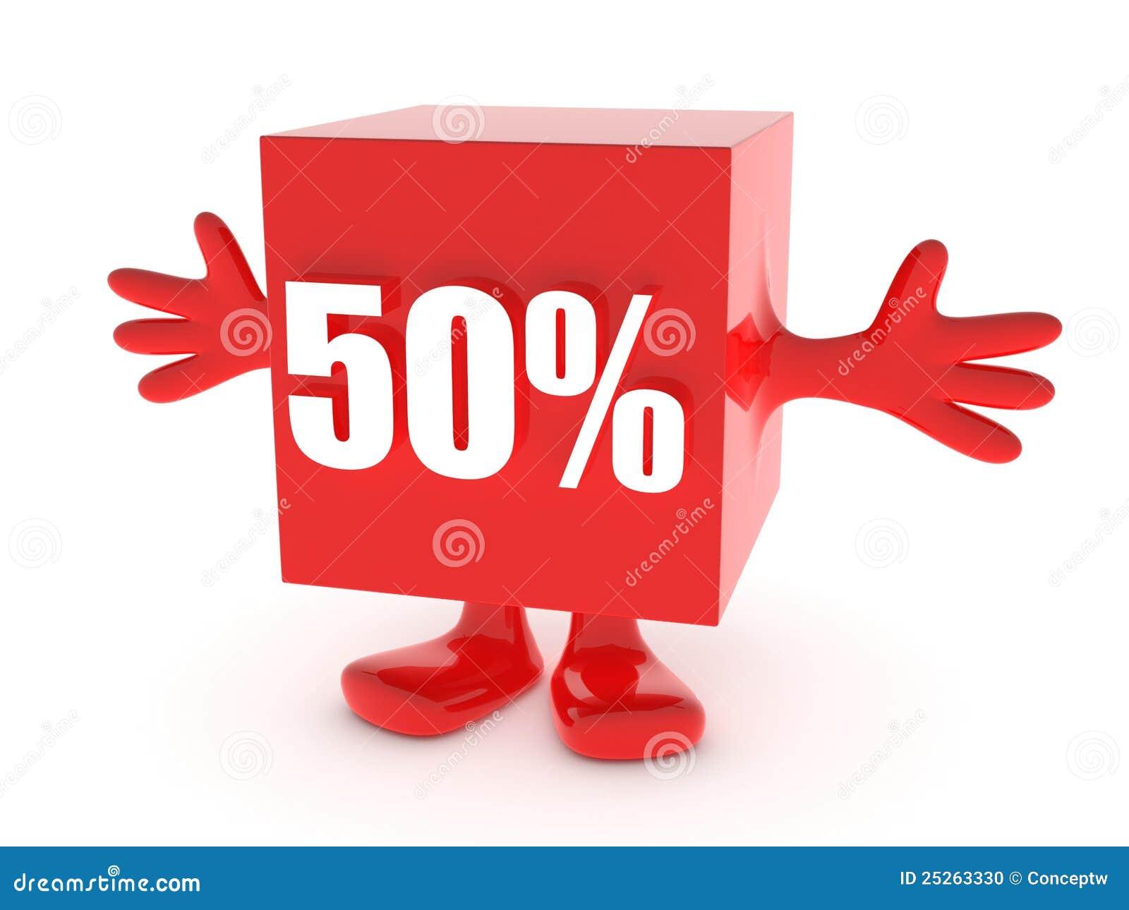 50 Percent Off Stock Photo Image 25263330
