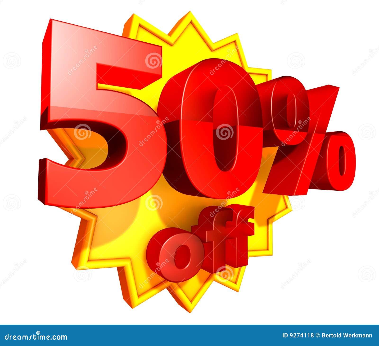 50 percent price off discount