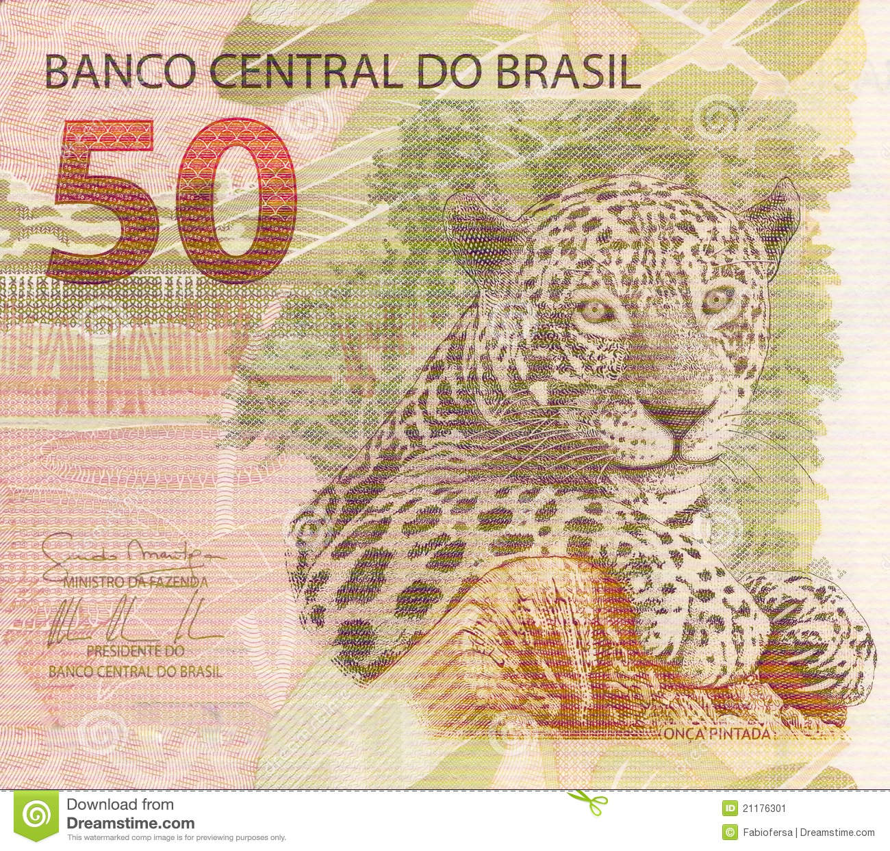 50 Reais Banknote From Brazil Stock Image - Image: 21176301