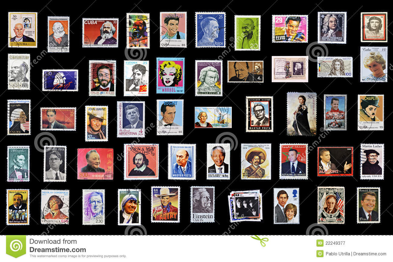 50 stamps of personalities
