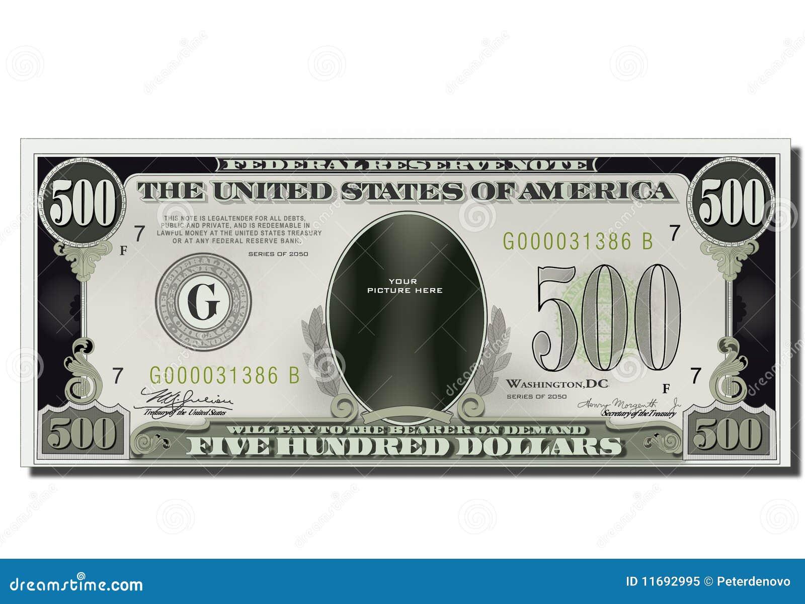500 долларов смешные США кредитки пустых