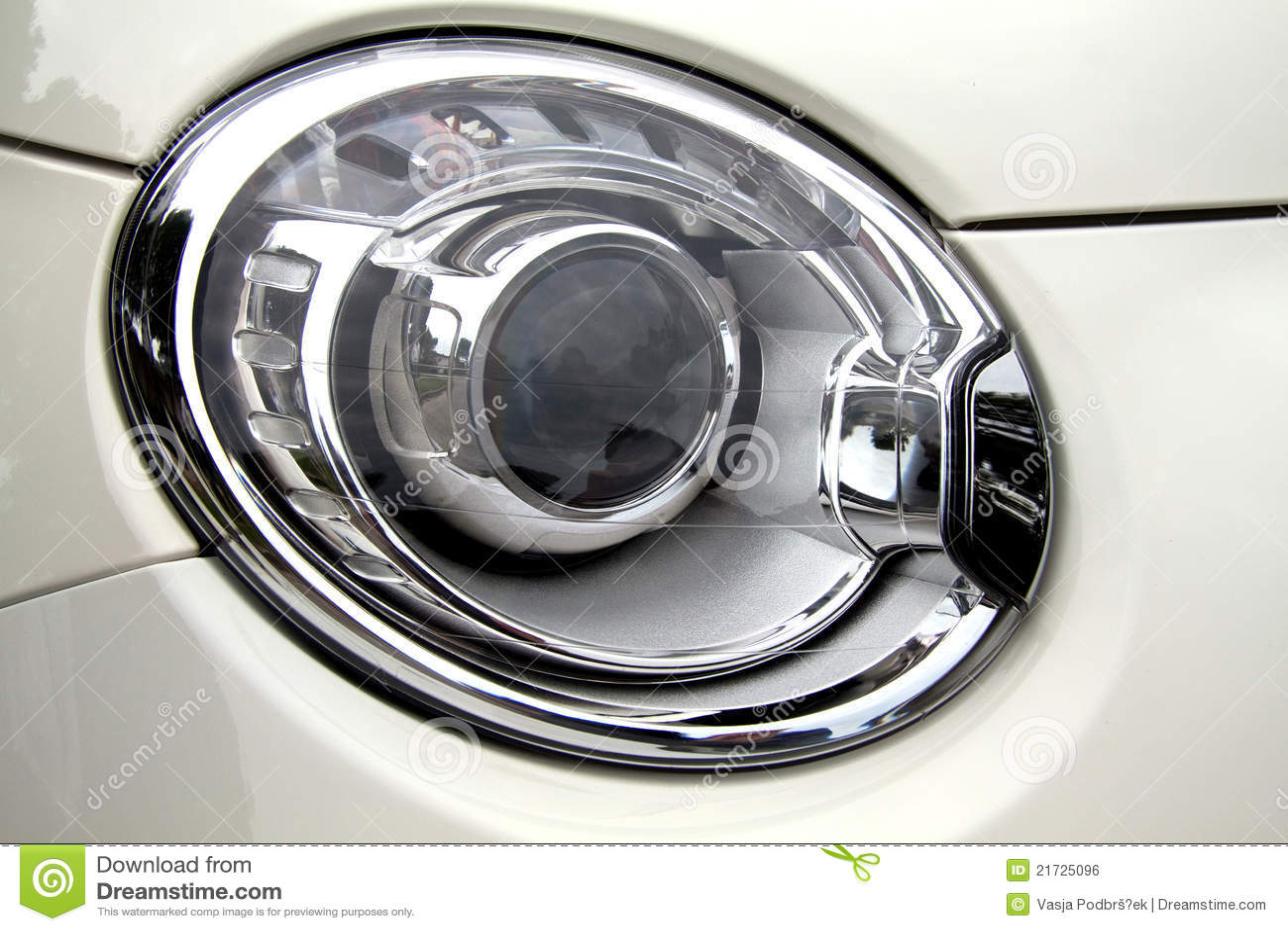 500 Abarth headlight stock photo. Image of fast, cost - 21725096