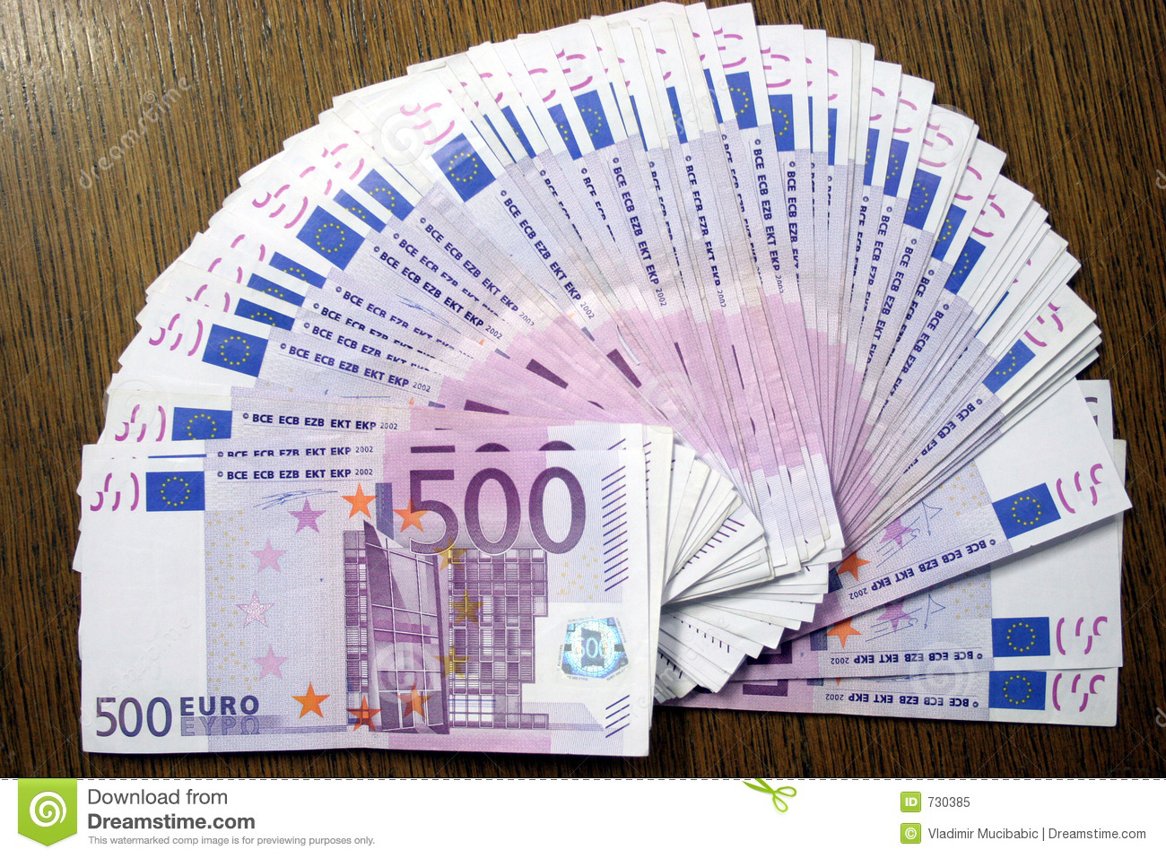 500 euros stock image image of expensive count income 730385
