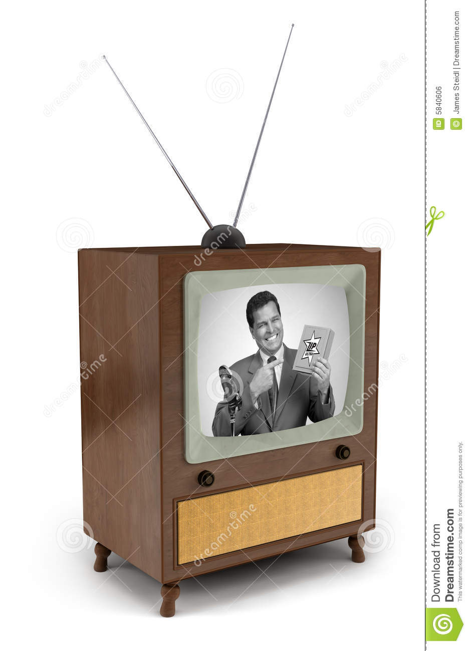 50s tv commercial stock photo image of media 1950s infomercial