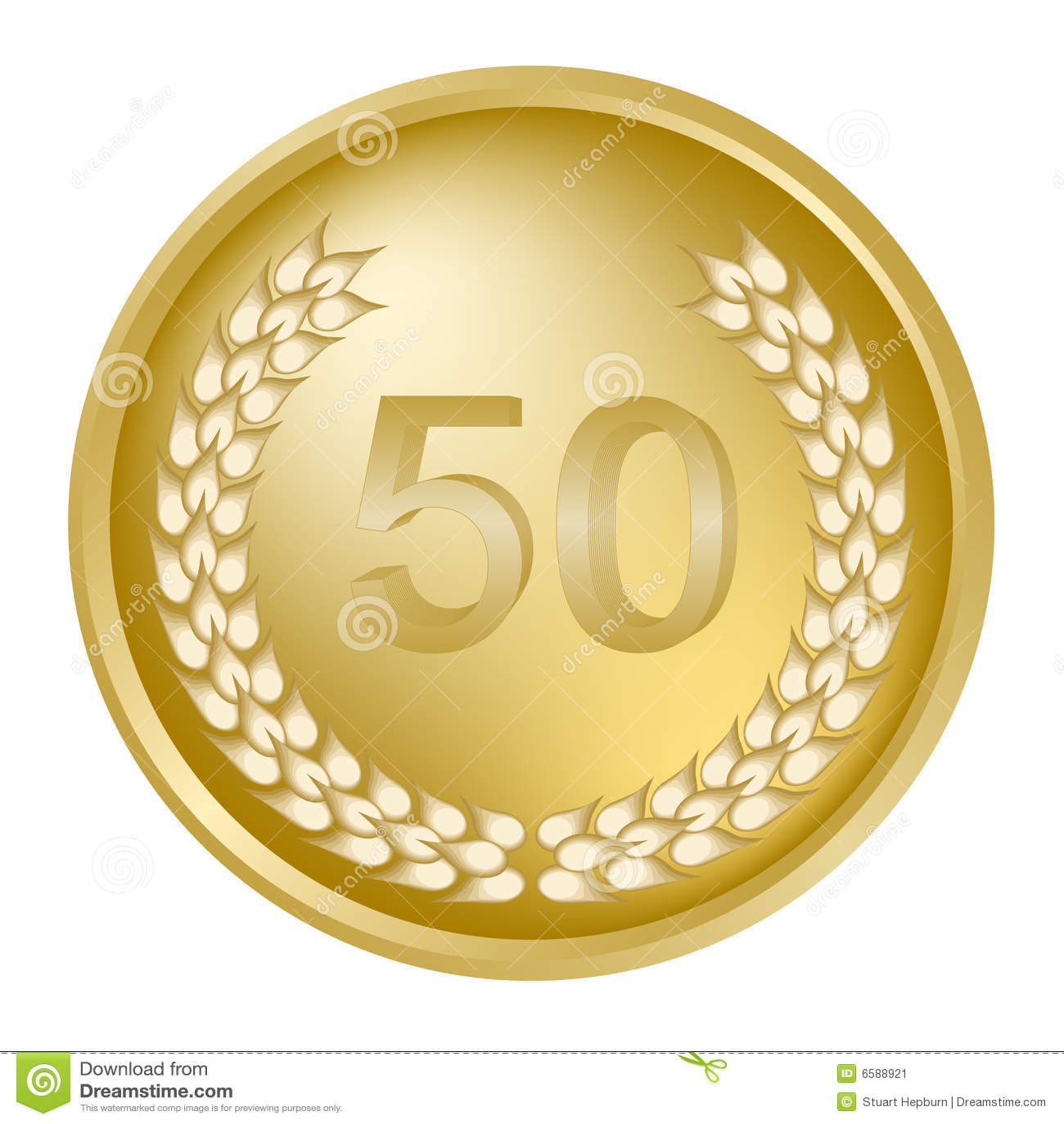 50ste verjaardagslauwerkrans