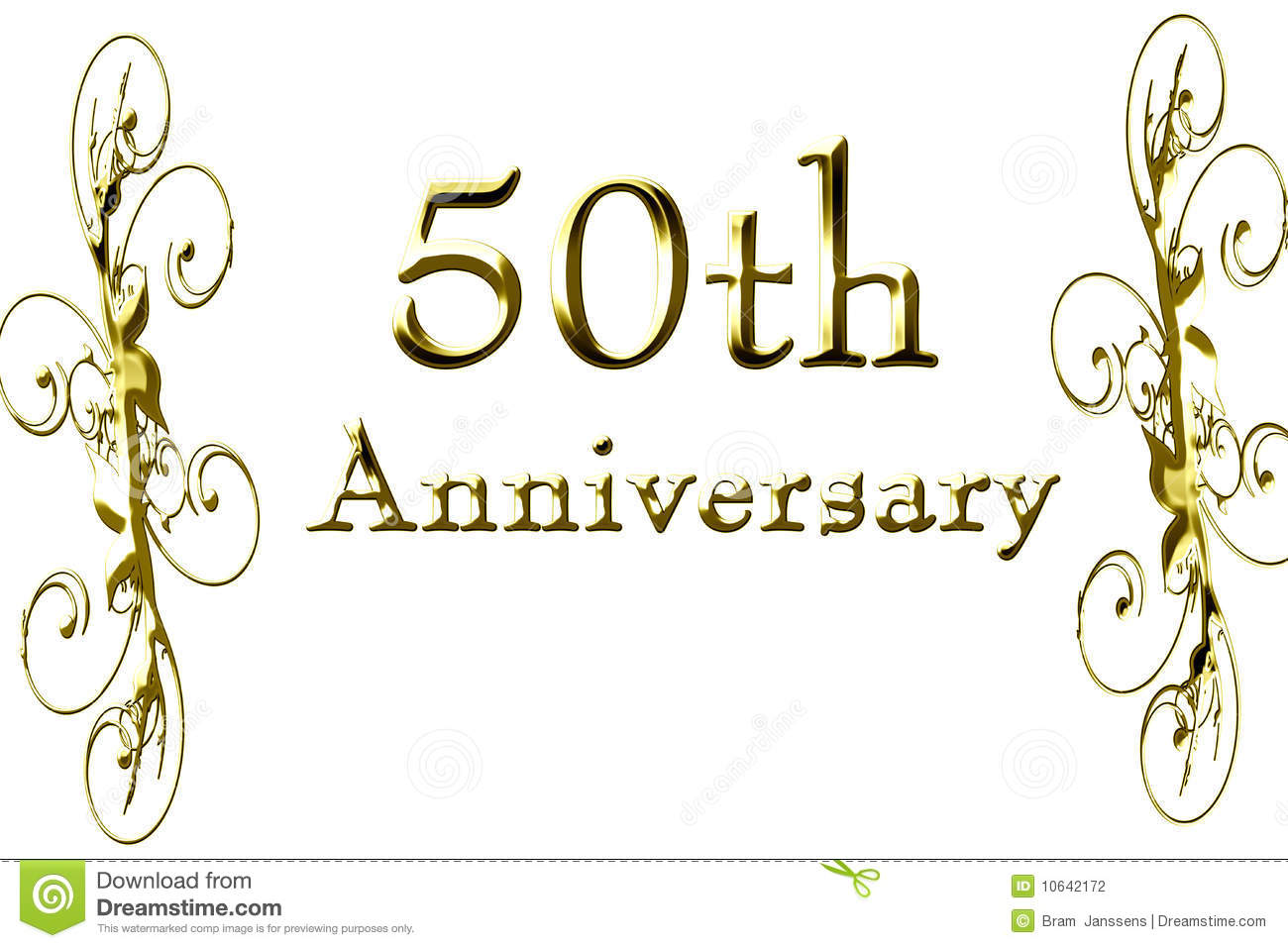 50th Anniversary Stock Photography - Image: 10642172