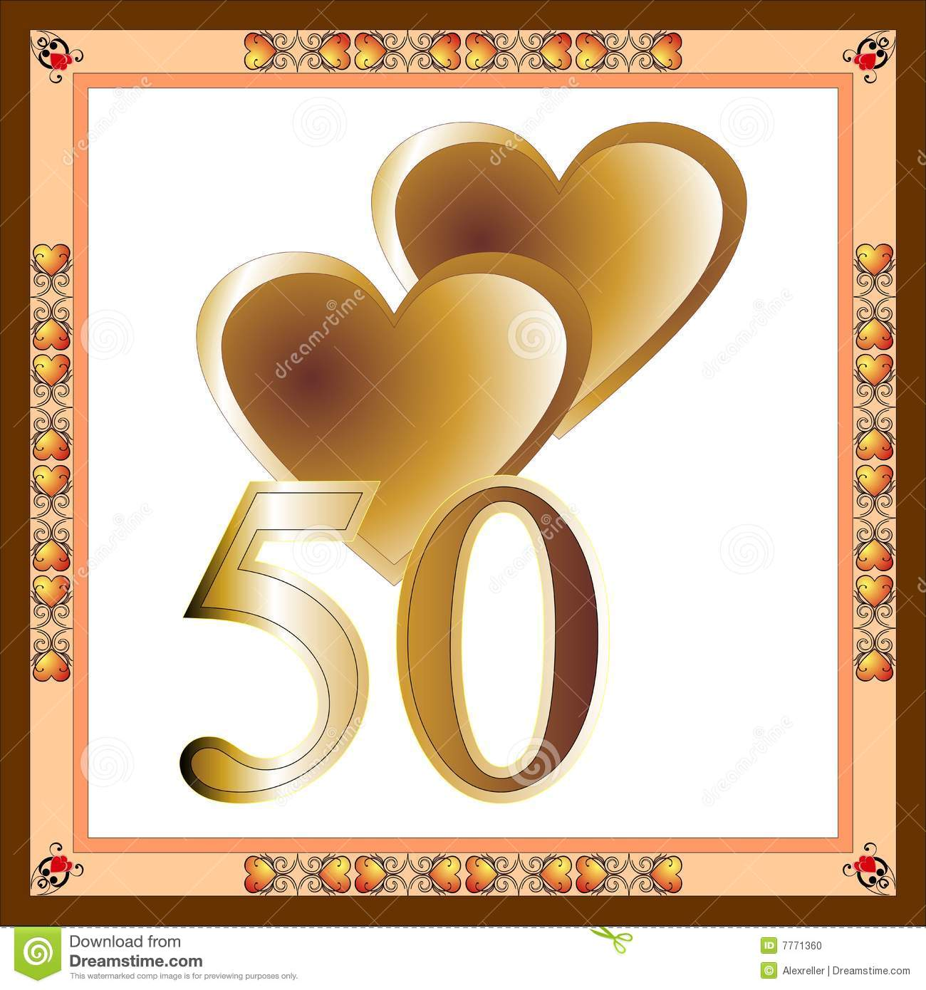 50th Anniversary Card Stock Photo - Image: 7771360