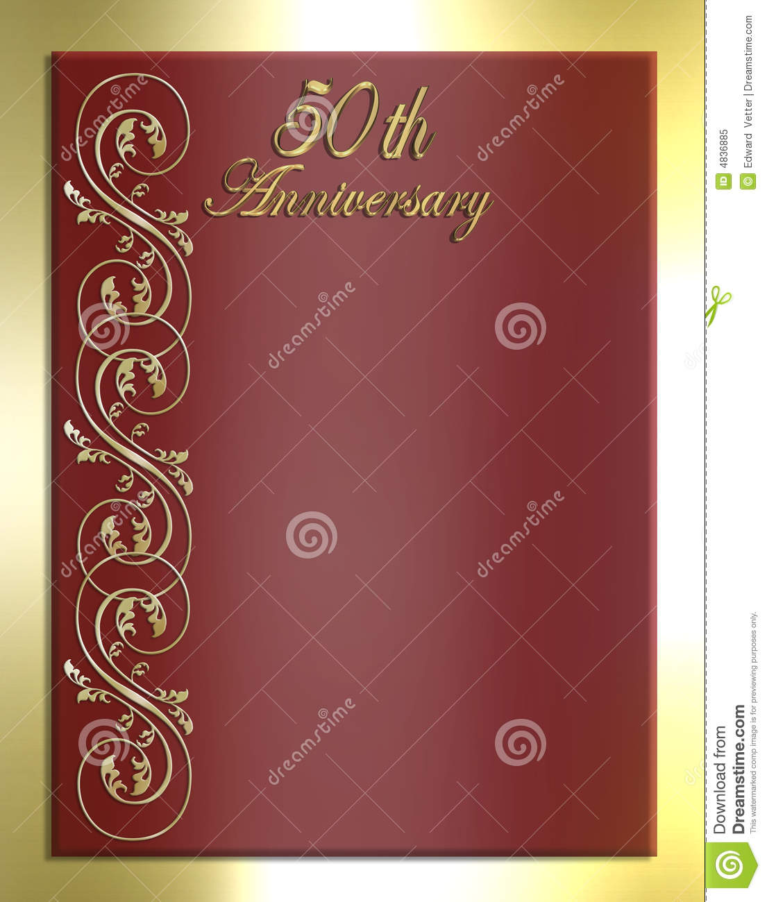 Wedding Invitation Red And Gold as perfect invitation sample