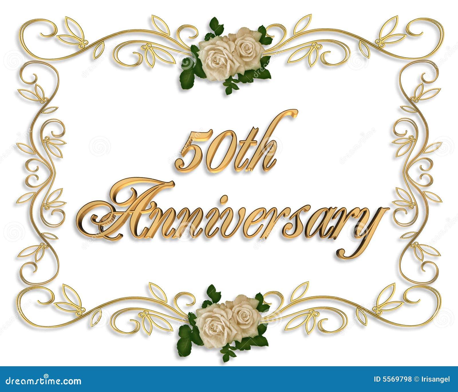 50th Anniversary Invitation Royalty Free Stock Photos - Image: 5569798