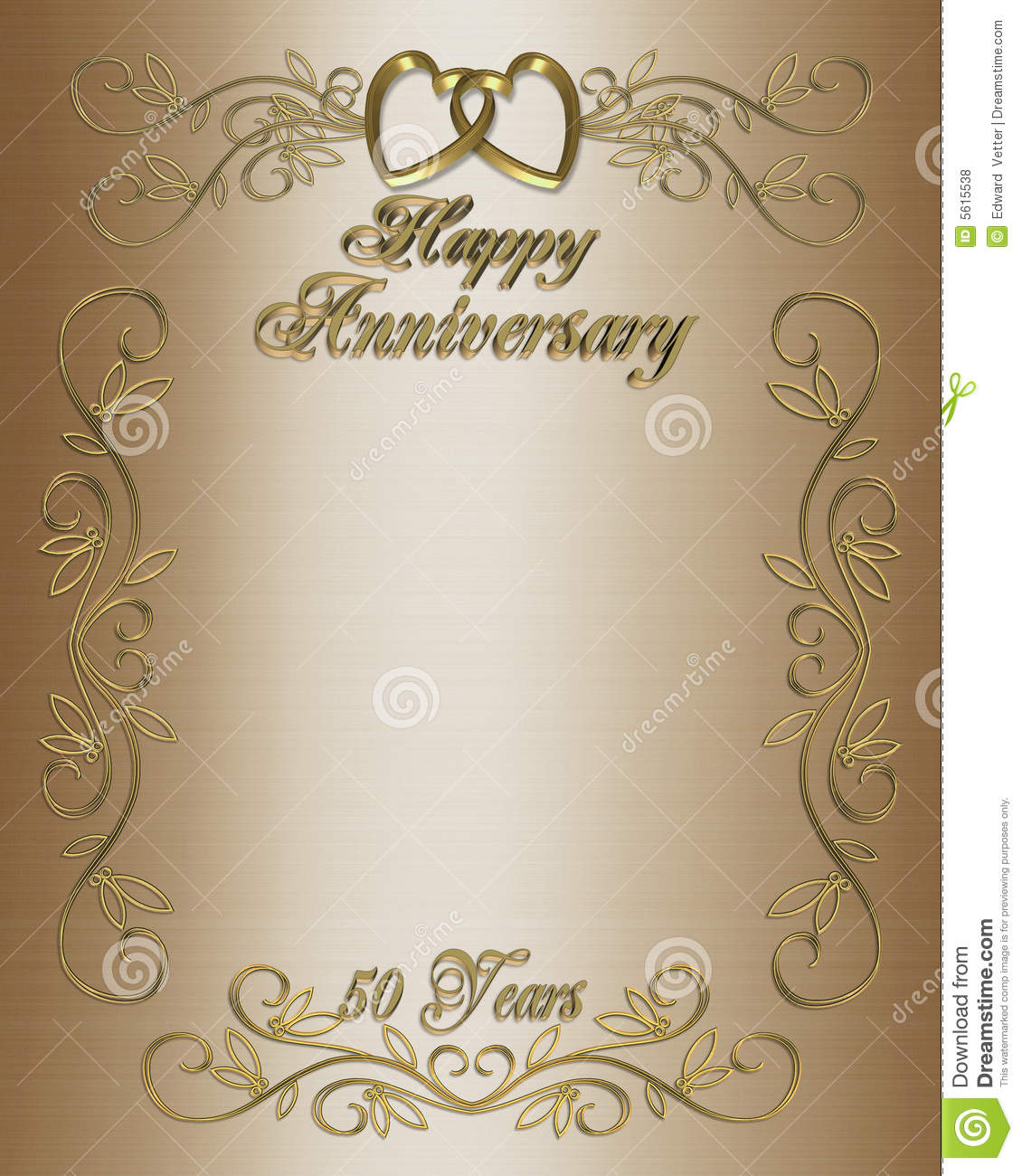 50th Anniversary Invitation Border Royalty Free Stock Photos - Image ...