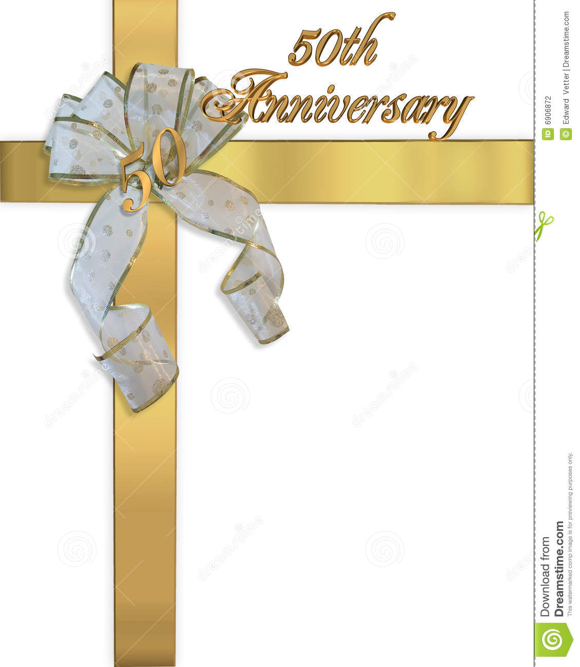 50Th Anniversary Invitation Card Stock Photography - Image: 6906872