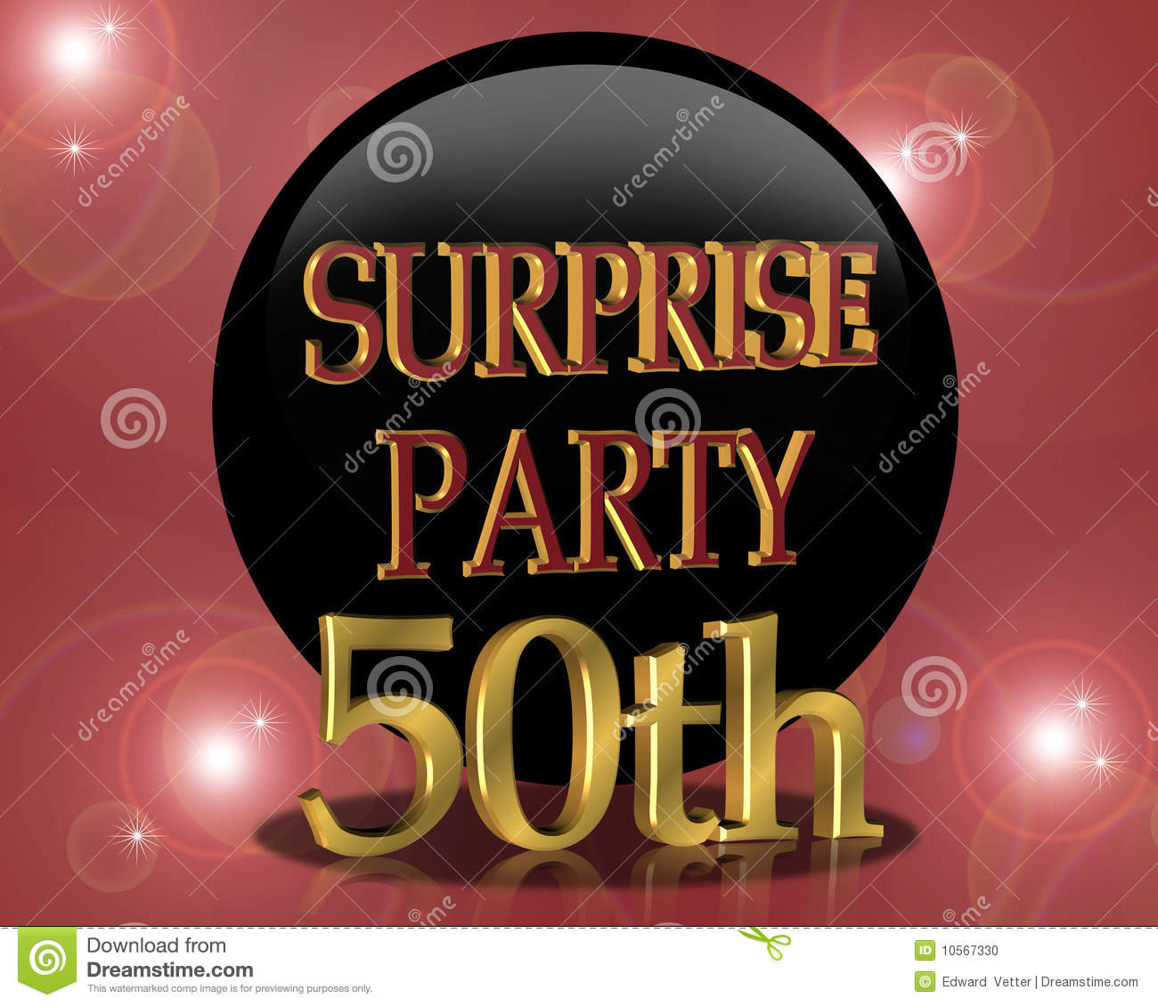 50th Birthday Surprise Party Invitation Stock Photo - Image: 10567330
