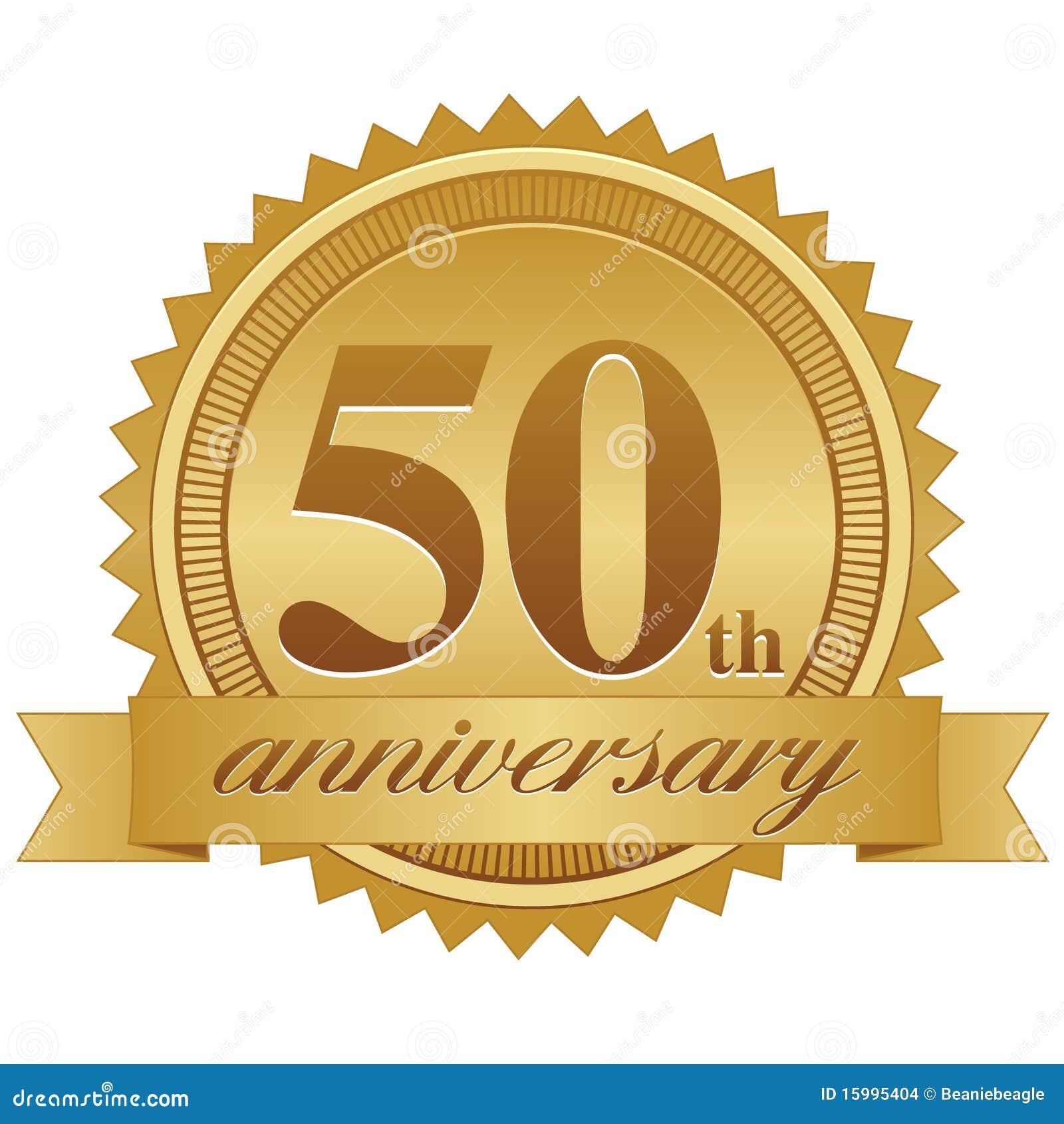 50th Selo do aniversário