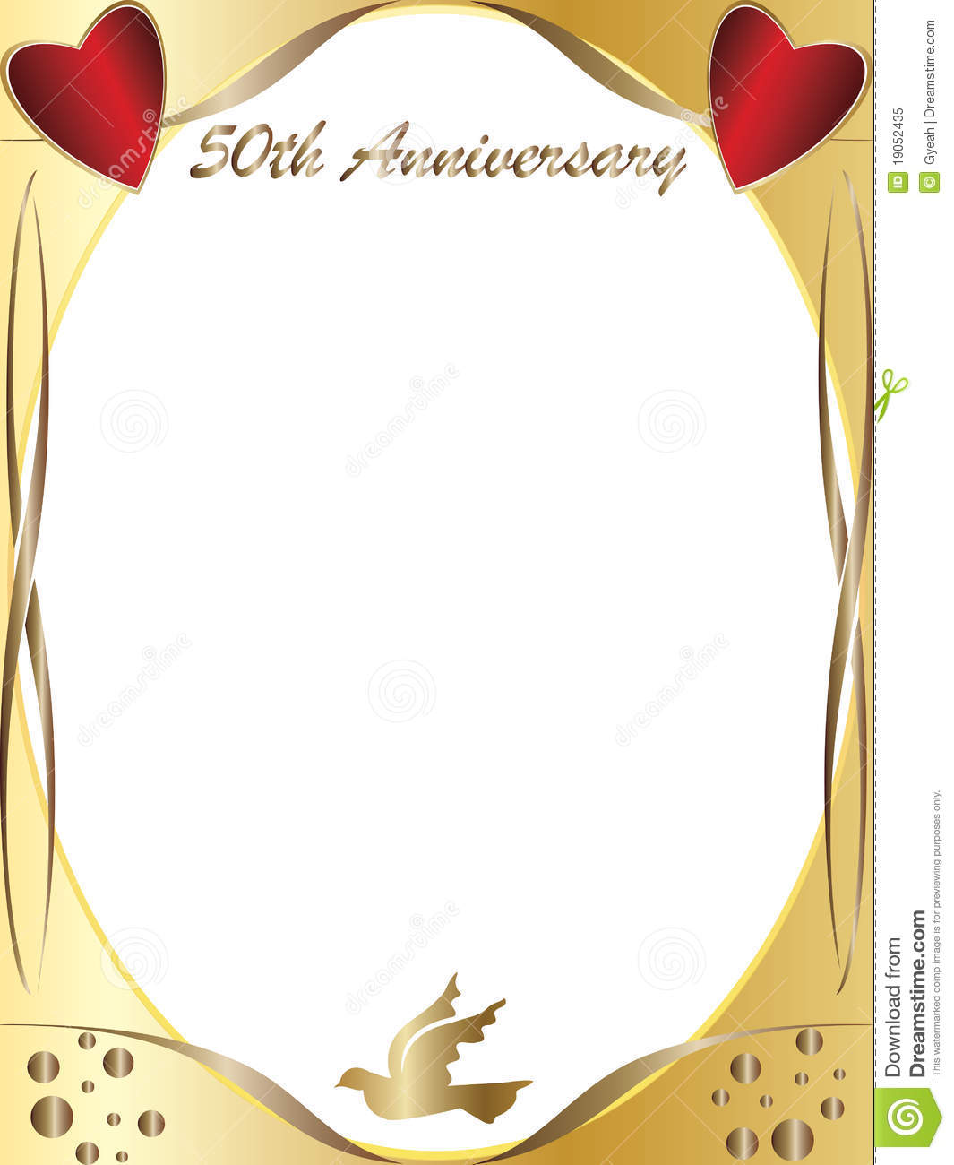 50th wedding anniversary stock illustration illustration of drawing