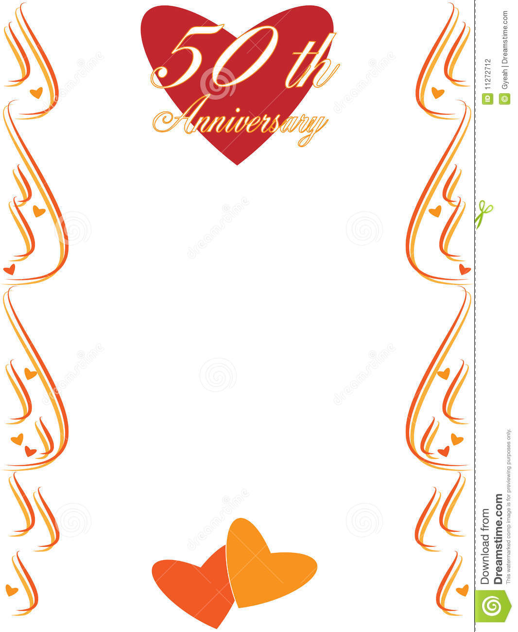 50th Wedding Anniversary Border Stock Photography - Image ...