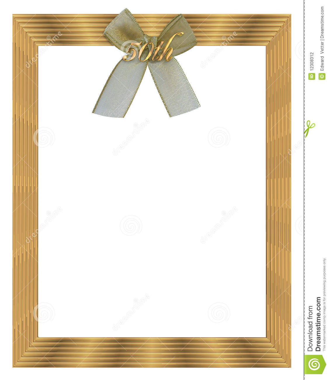 50th Wedding Anniversary Borders: 50th Wedding Anniversary Border Frame Stock Photography