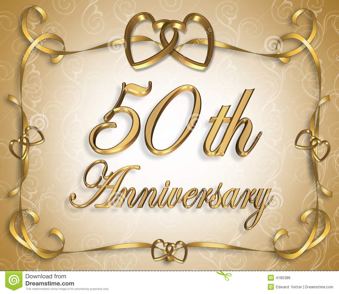 50th Wedding Anniversary Card Royalty Free Stock Image - Image ...