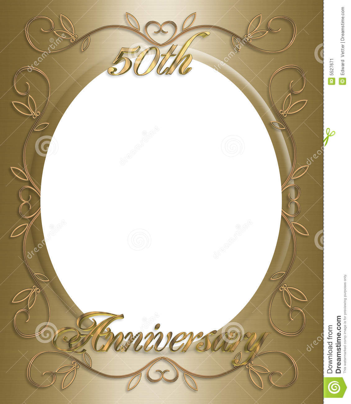 50th Wedding Anniversary Frame Stock Illustration Illustration Of