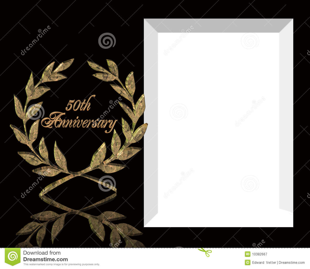 50th Wedding Anniversary Invitation Royalty Free Stock