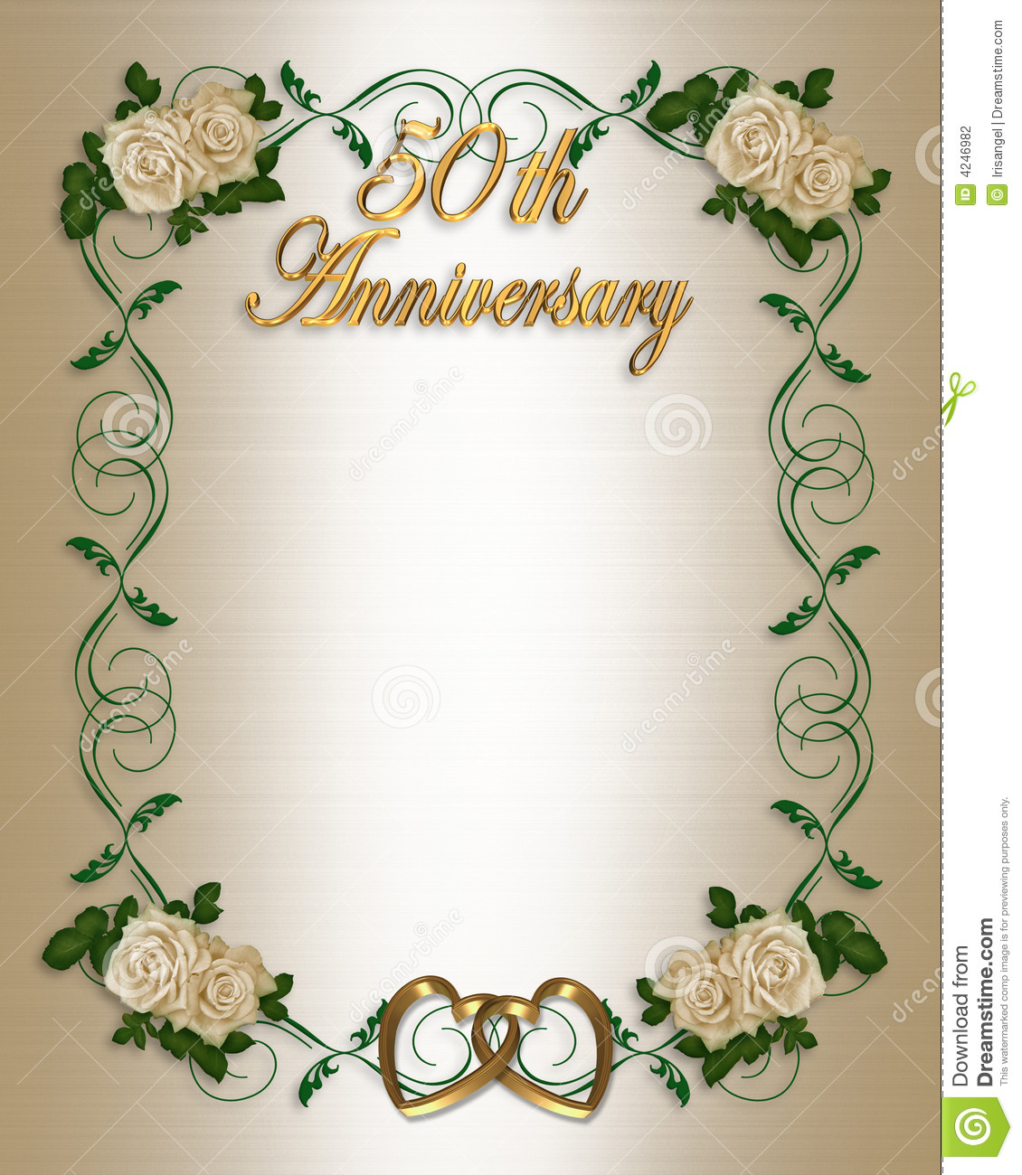 50th wedding anniversary invitation stock illustration 50th wedding anniversary invitation stopboris Gallery