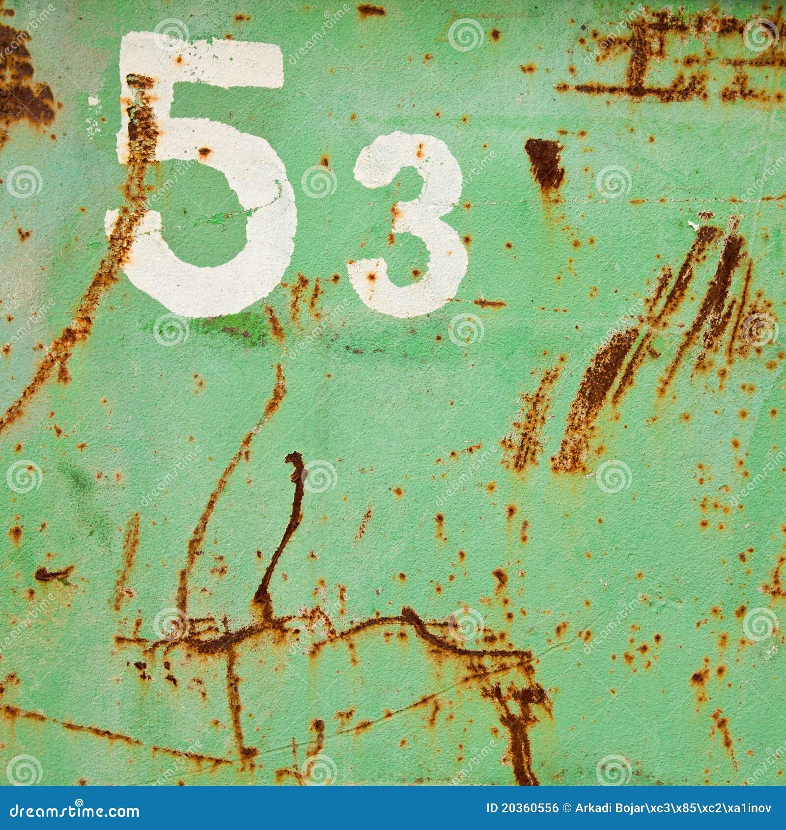 53 grunge Zahl
