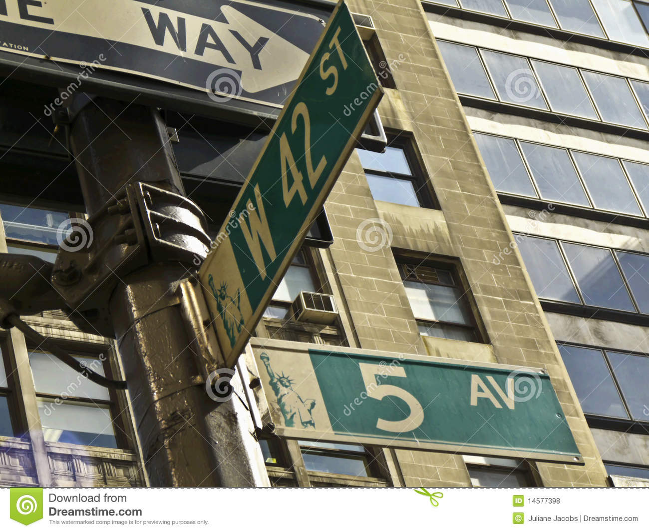 5th Avenue And 42nd Street Royalty Free Stock Photos ...