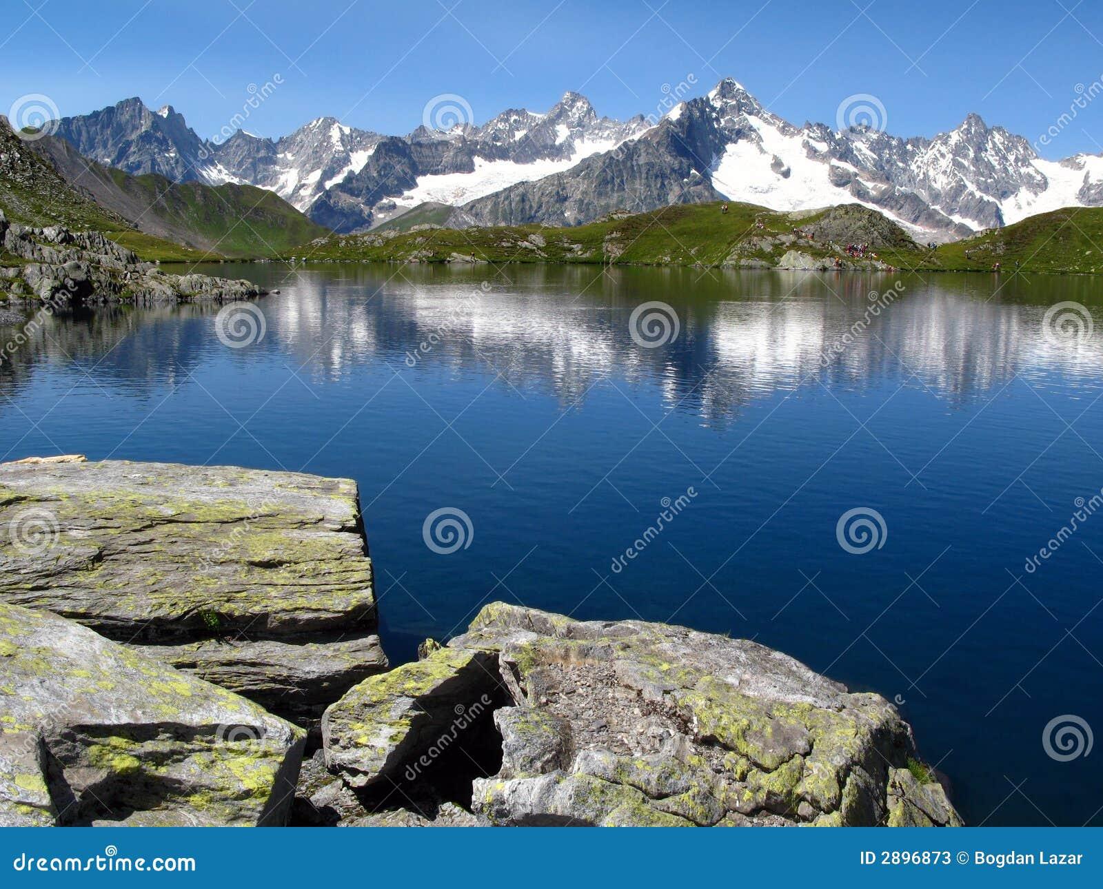 6个阿尔卑斯欧洲fenetre湖