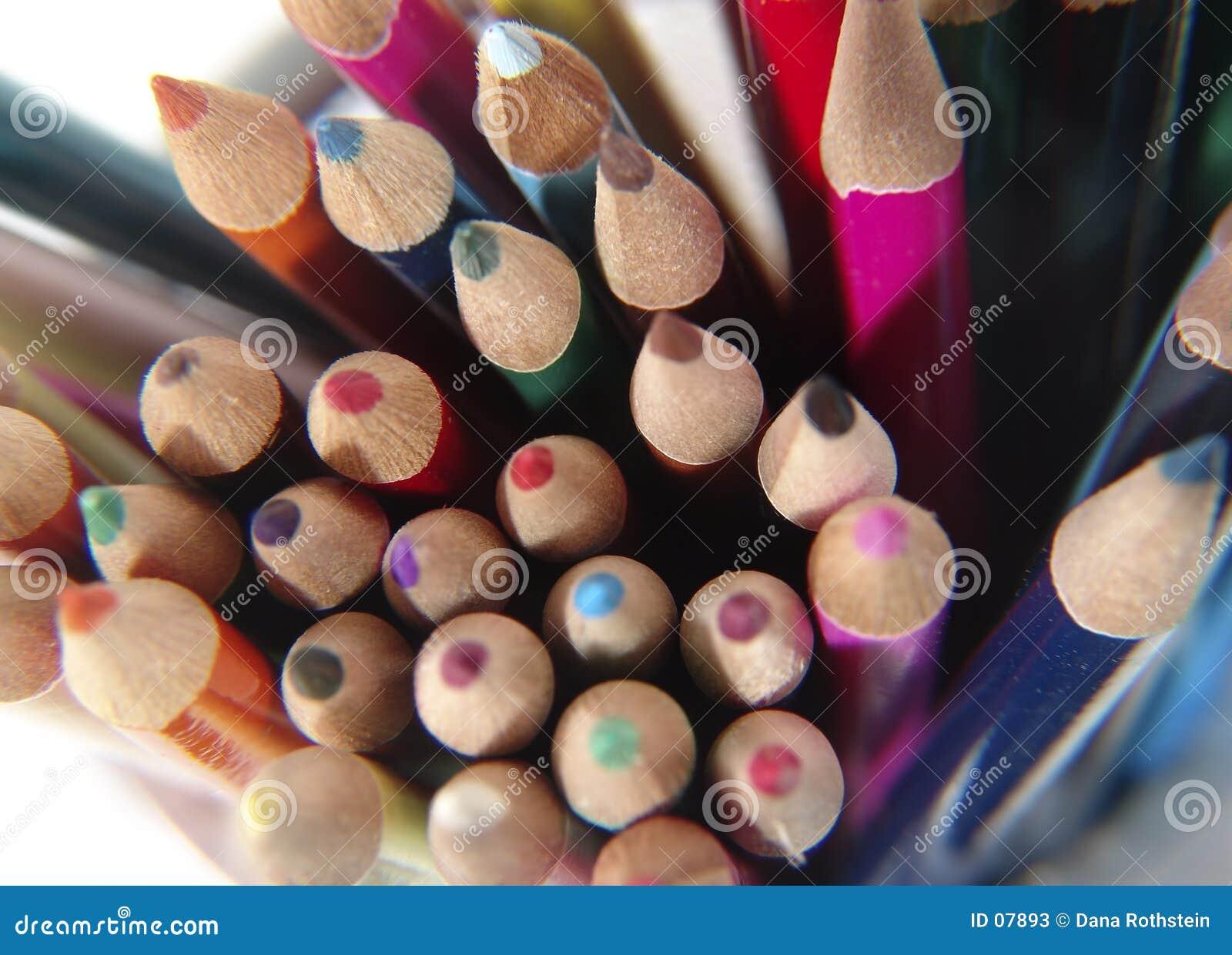 6支色的铅笔