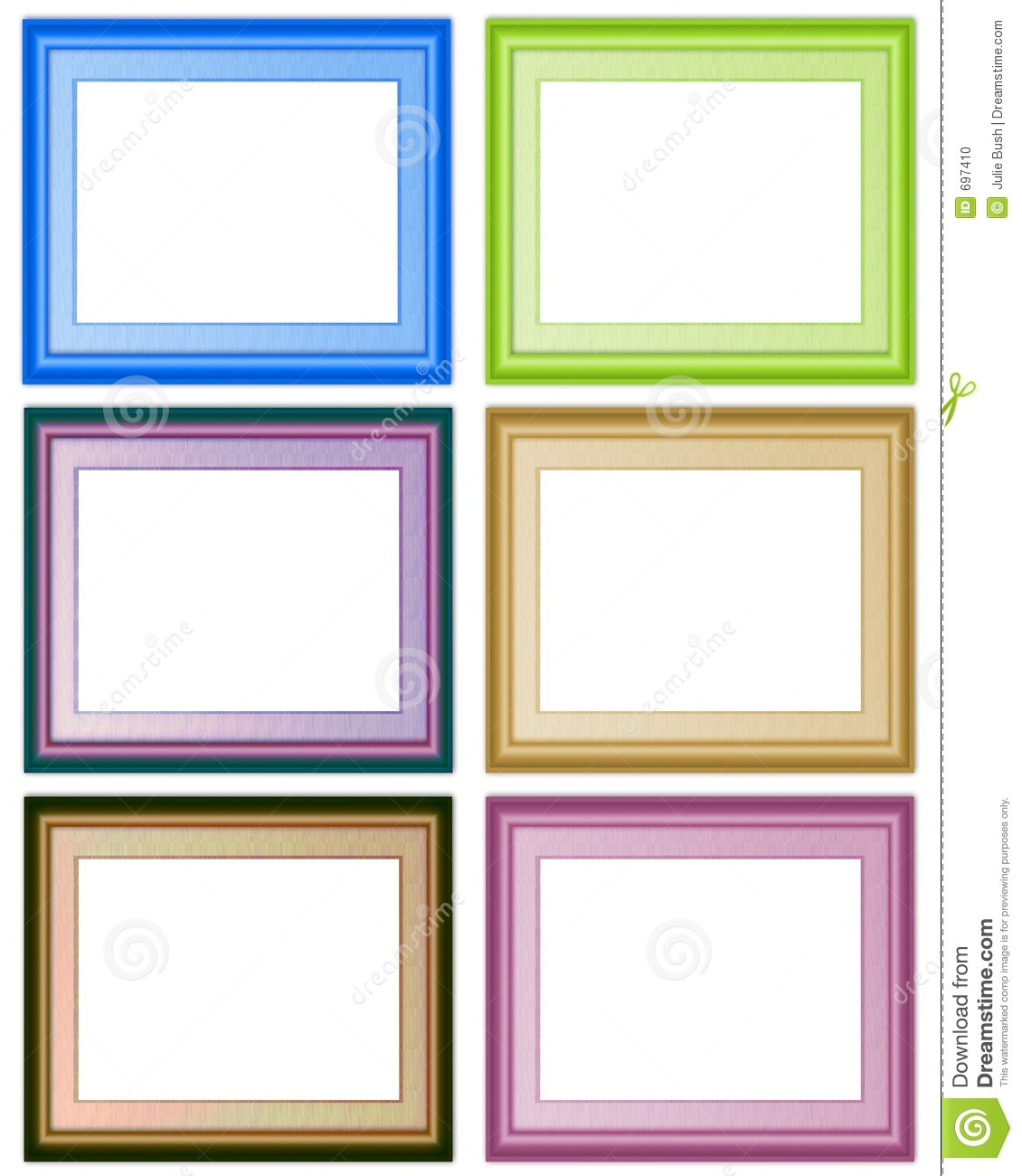 6 frames stock photo image 697410 - Six pictures photo frame ...