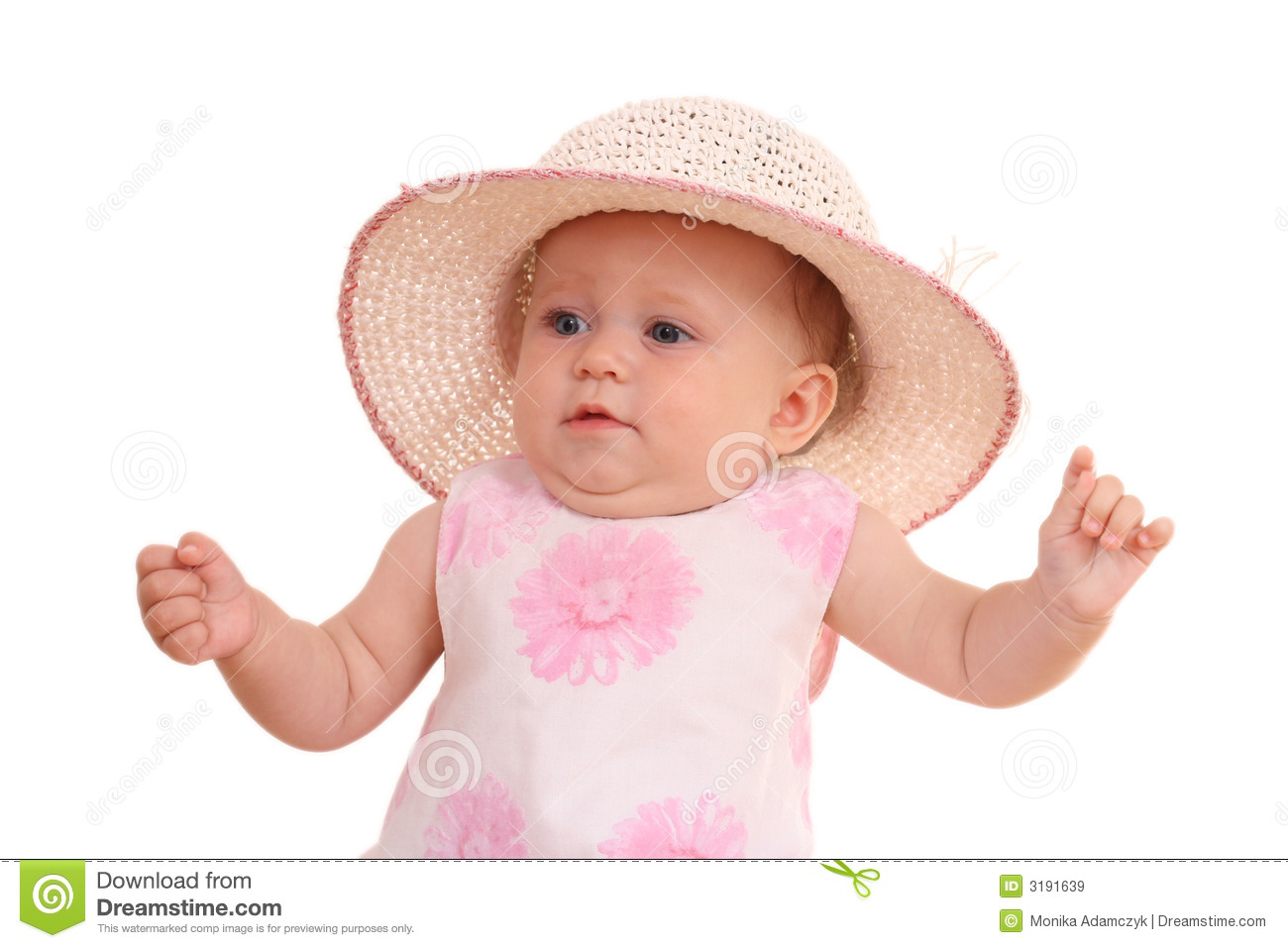 Months baby girl in hat royalty free stock images image 3191639