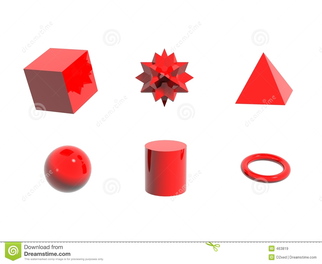 6 Red Objects Royalty Free Stock Images Image 463819