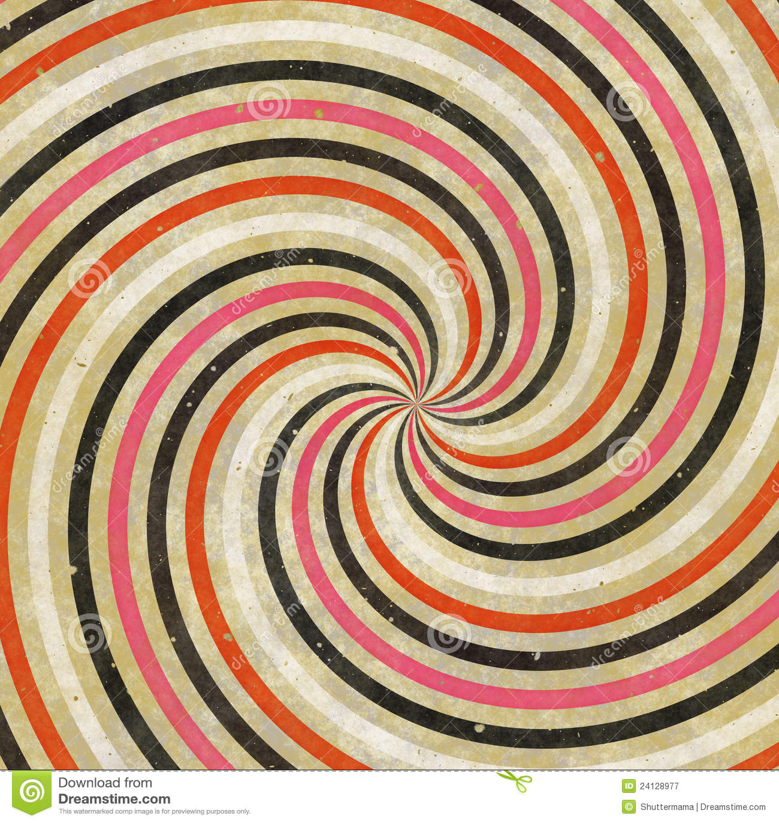60 S 70 S Retro Swirl Funky Wild Spiral Rays Royalty Free