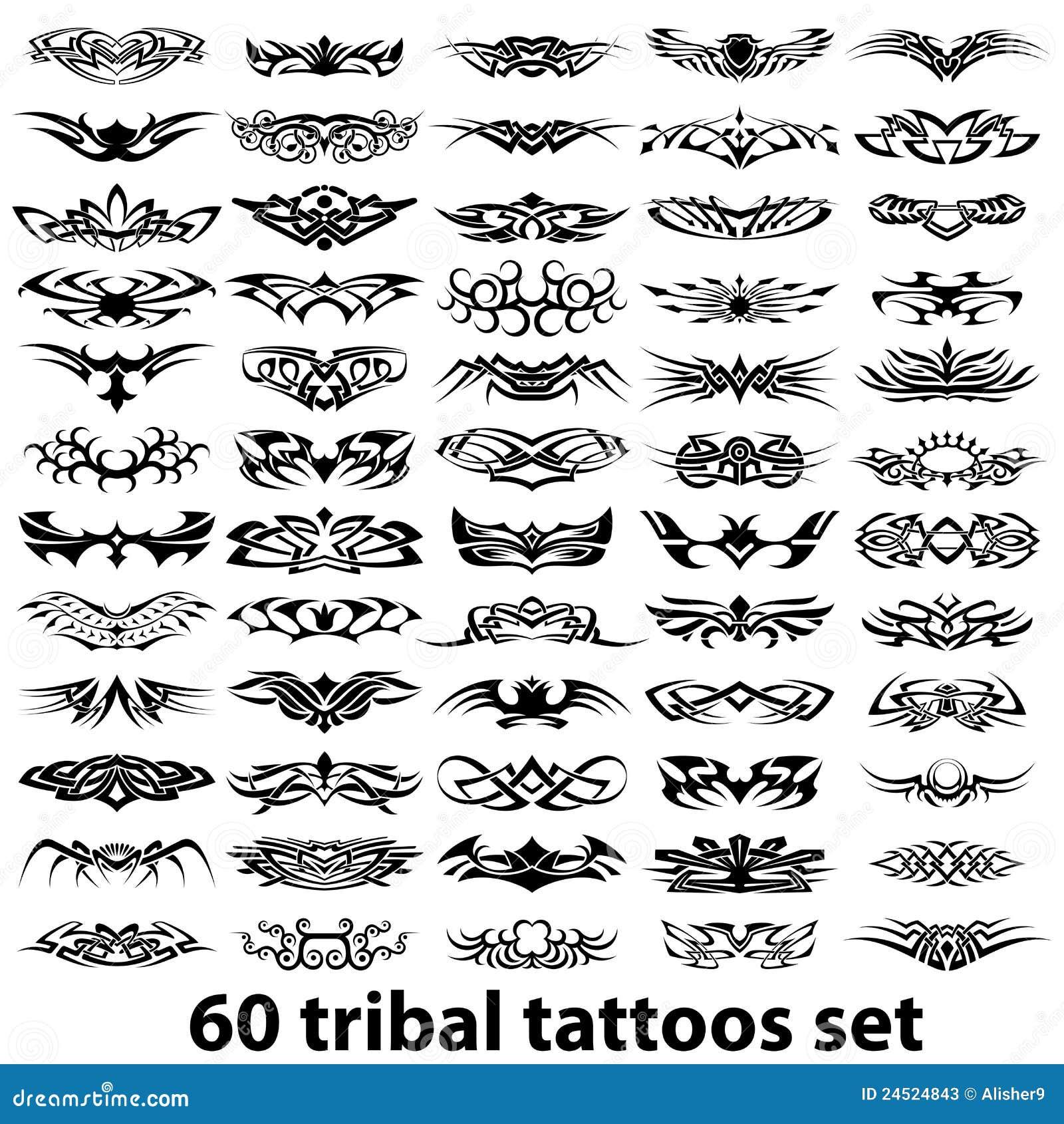 Tribal-Tattoos 60-tribal-tattoo-set-24524843