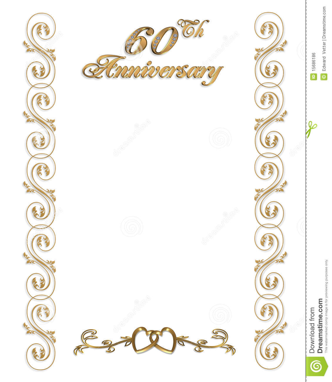 60th anniversary invitation border stock illustration 60th anniversary invitation border stopboris Gallery