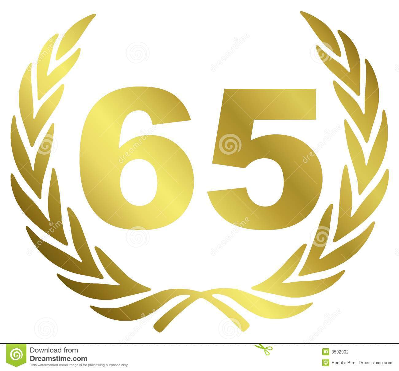 65 Anniversary Stock Photography - Image: 8592902