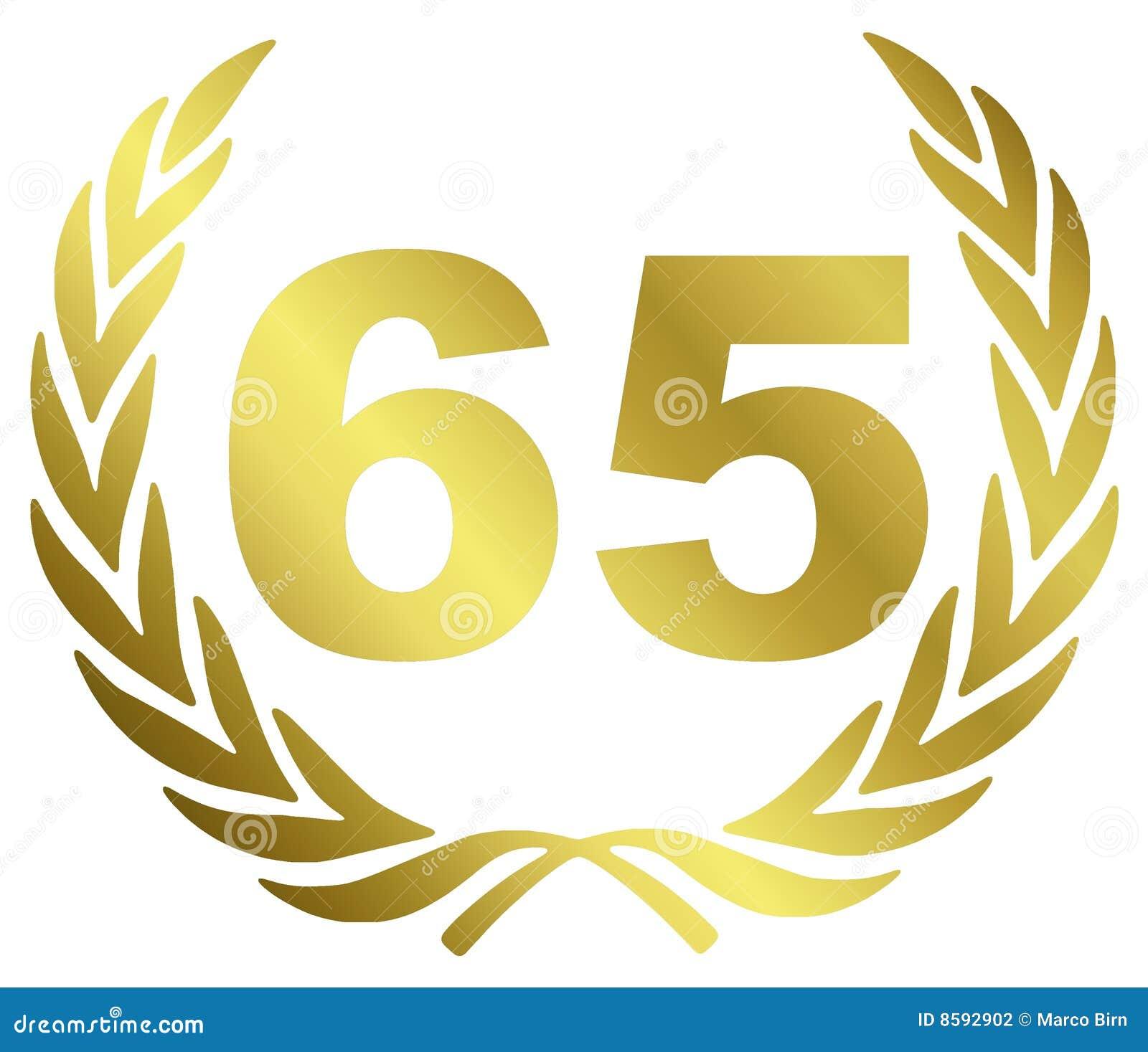 65 Anniversary vector illustration