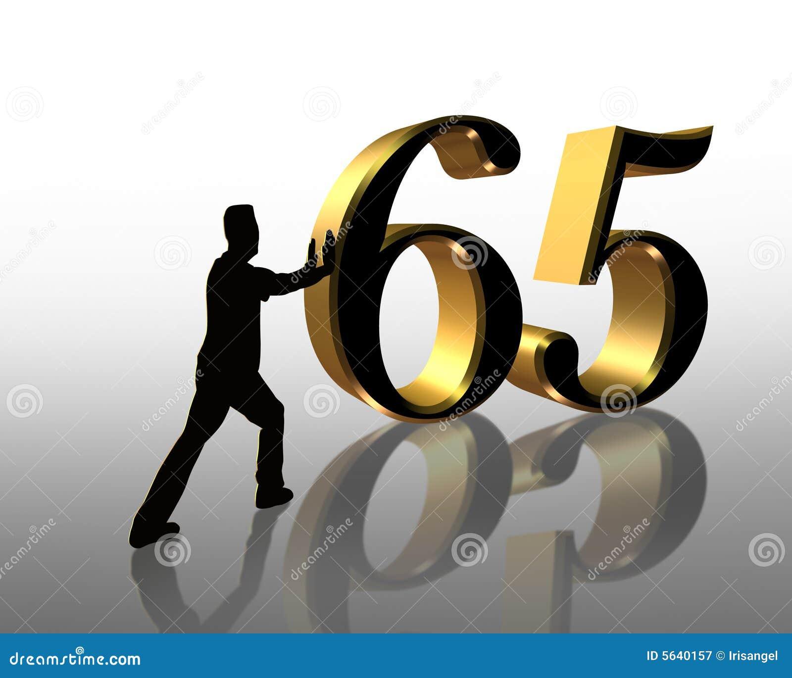 65th Birthday Illustration 3D