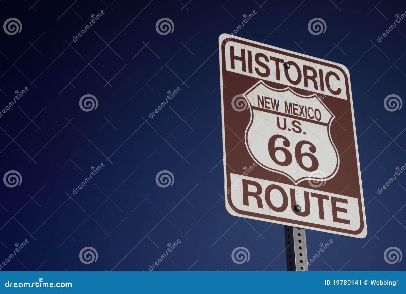 66 trasa drogowy znak
