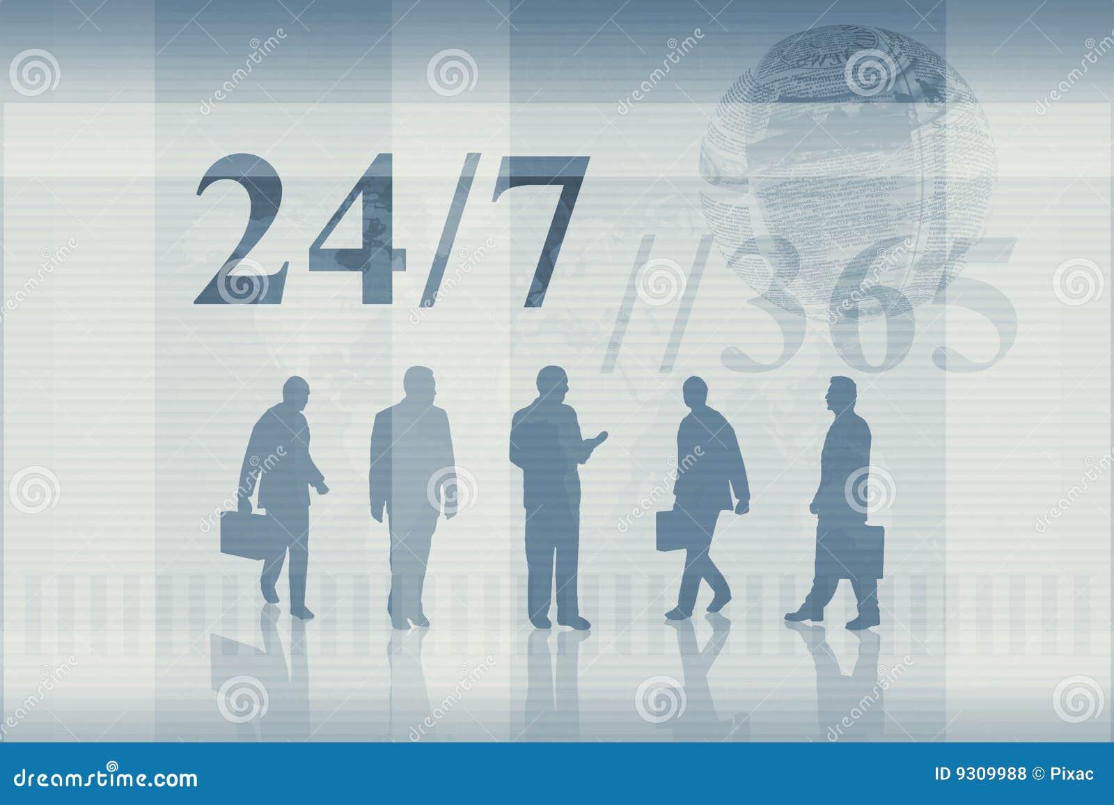 7 24运作