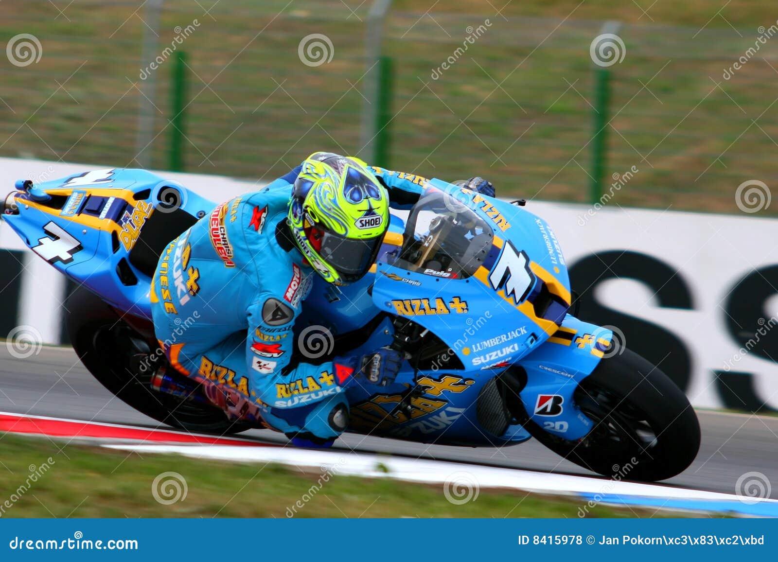 7 Chris Vermeulen - Rizla Suzuki MotoGP Editorial Stock Photo - Image: 8415978
