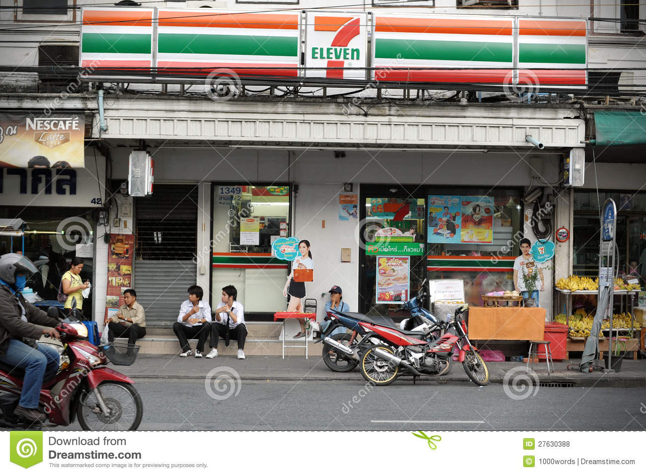 90cc90e0b97 7-Eleven Store in Bangkok editorial stock photo. Image of biggest ...
