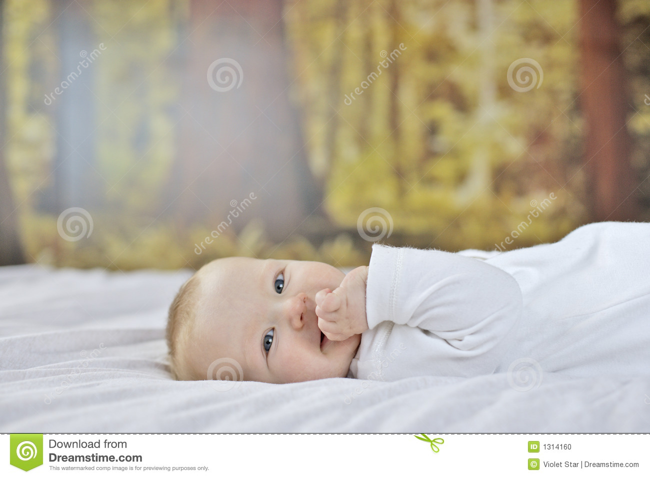 7 month old baby boy stock photo