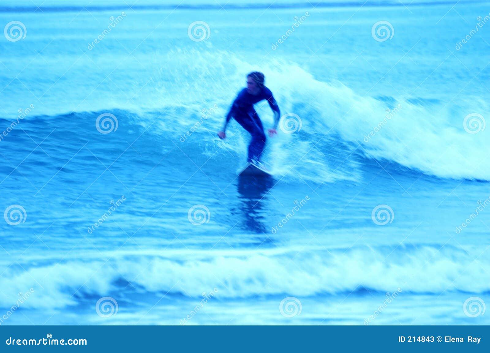 7 niebieskich surfingowów