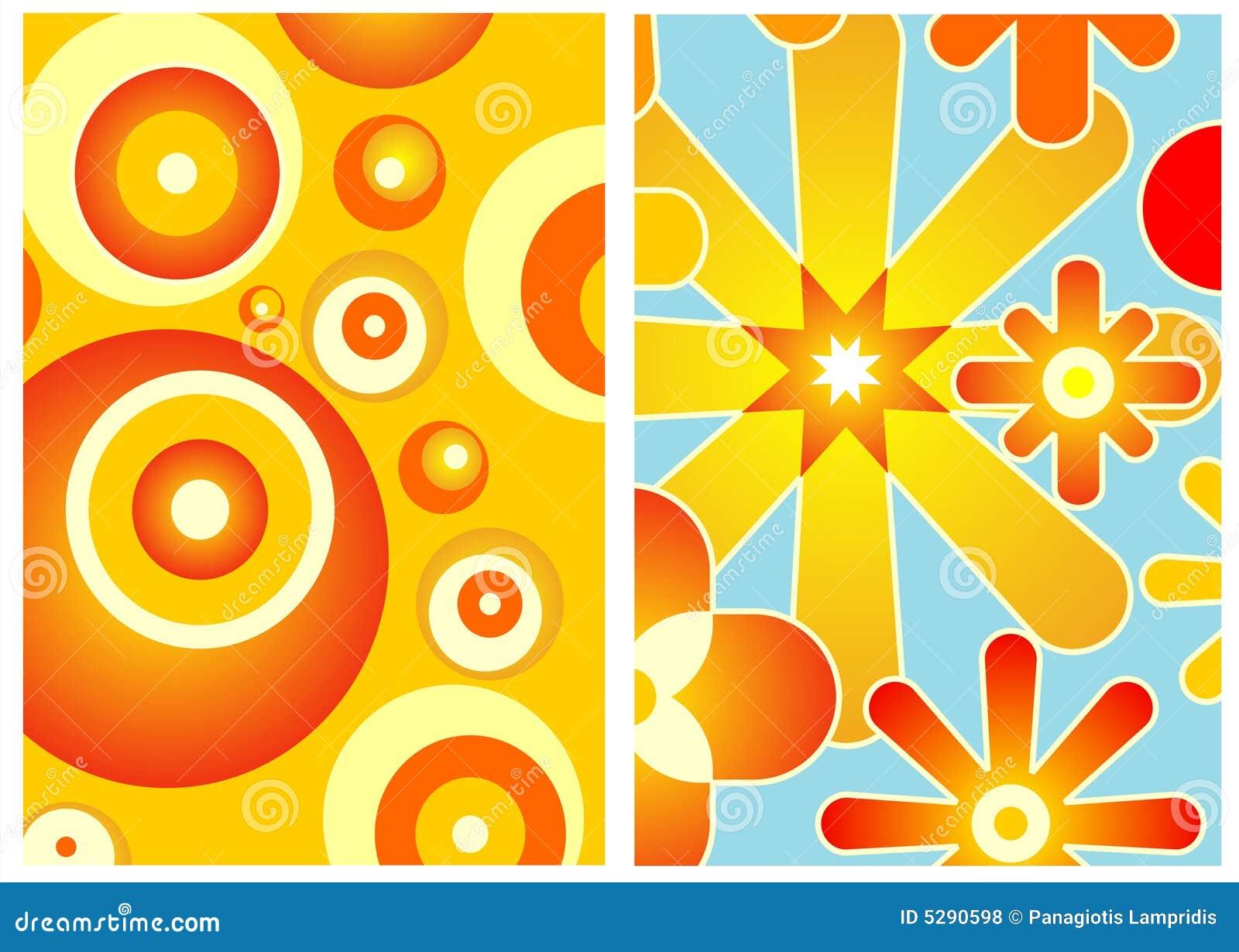 70s decor stock vector. Illustration of orange, decor - 5290598