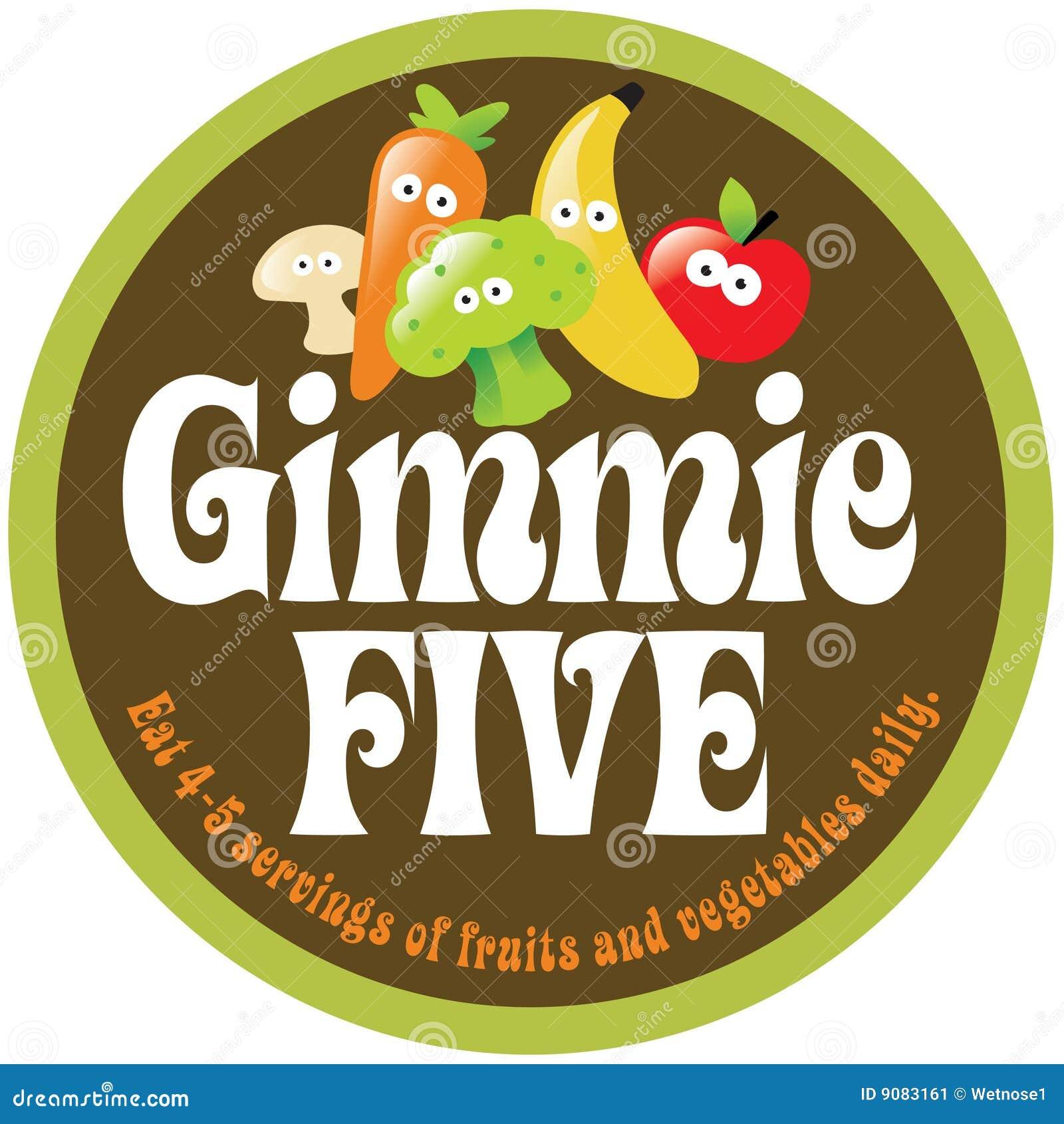 70s Gimmie Five Promo Sticker/Label