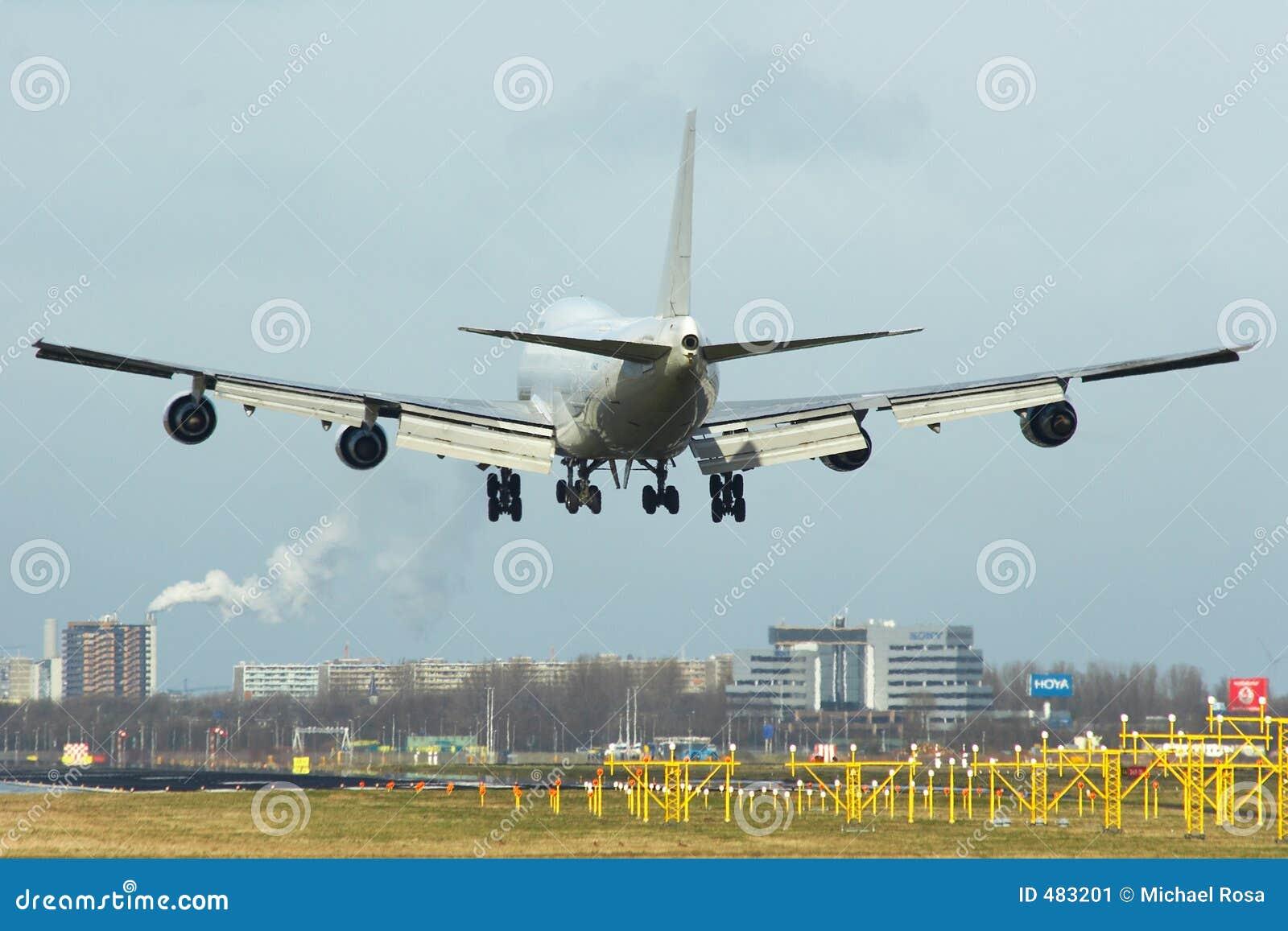 747 boeing till landningsögonblicken