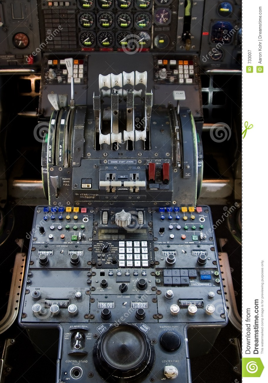 747 Controls Royalty Free Stock Photography Image 733007