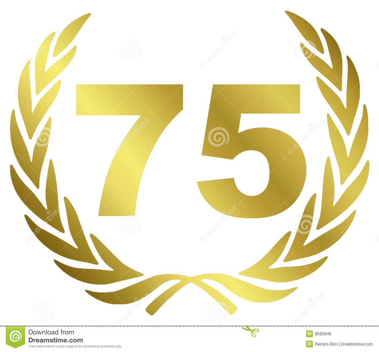 75 Anniversary Royalty Free Stock Image - Image: 8592946