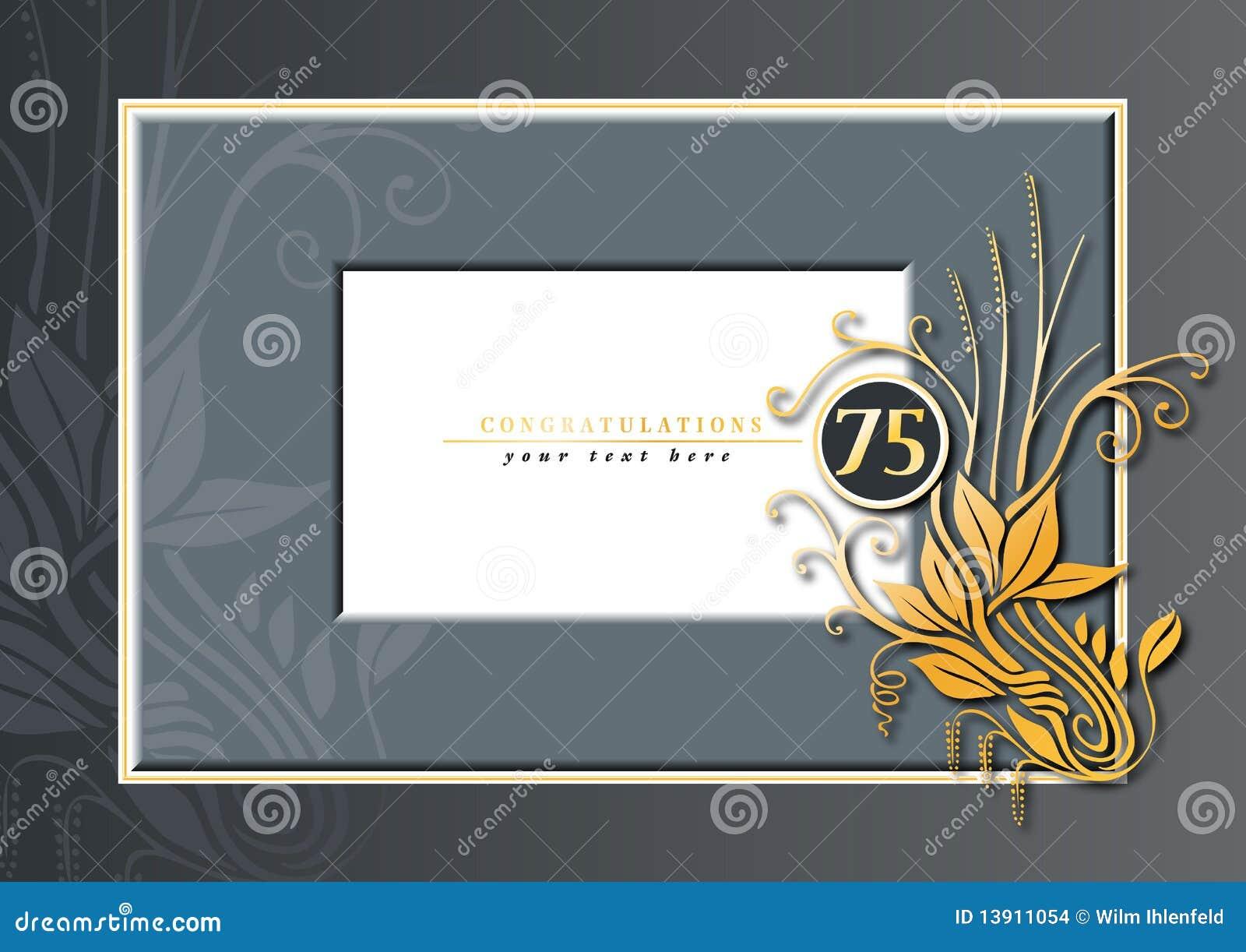 75th Anniversary Stock Vector Illustration Of Celebration 13911054
