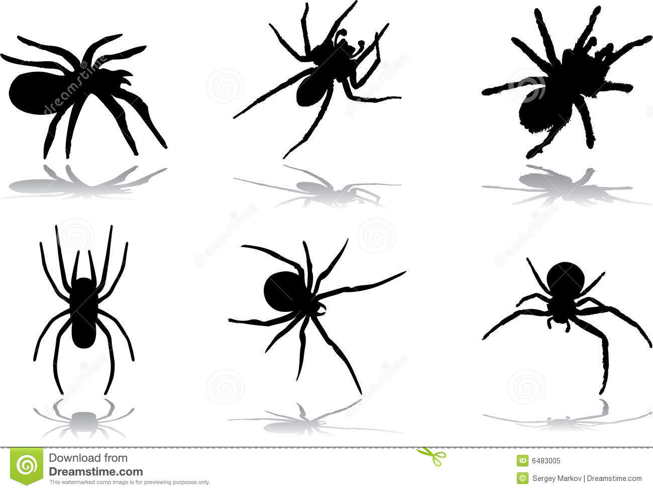 design halloween icons set spiders - Halloween Spiders